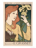 Reproduction of a Poster Advertising an Exhibition of Work by Eugene Grasset Giclee Print by Eugene Grasset