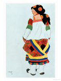 Costume Design for a Peasant Girl, 1922 Giclee Print by Leon Bakst