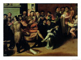 An Anatomy Lesson for Artists Giclee Print by Bartolomeo Passarotti