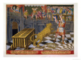 The Roman Emperor Commodus Fires an Arrow to Subdue a Leopard Which Has Escaped Giclee Print by Jan van der Straet