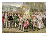"Queen Elizabeth I in Procession with Her Courtiers from ""Memoirs of the Court of Queen Elizabeth"" Giclee Print by Sarah Countess Of Essex"