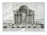 Statue of Olympian Zeus, Made by Phidias in Gold and Ivory Giclee Print by Johann Bernhard Fischer Von Erlach