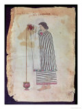 Mexican Indian Preparing Chocolate, from the Codex Tuleda, 1553 Giclee Print
