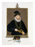"Portrait of Sir John Hawkins (1532-95) from ""Memoirs of the Court of Queen Elizabeth"" Giclee Print by Sarah Countess Of Essex"