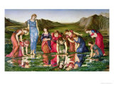 The Mirror of Venus, 1870-76 Premium Giclee Print by Edward Burne-Jones