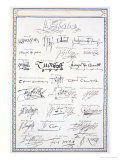 Reproduction of Signatures of the Tudors and Their Court Premium Giclee Print by Sarah Countess Of Essex