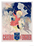 "Reproduction of a Poster Advertising the ""Casino D'Enghien,"" 1890 Giclee Print by Jules Chéret"
