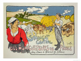 "Reproduction of a Poster Advertising the ""Central Syndicate of French Farmers,"" 1900 Giclee Print by Georges Fay"