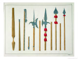 "Lances, Spears, Halberds and Partisanes from ""A History of the Development and Customs of Chivalry"" Giclee Print by Friedrich Martin Von Reibisch"