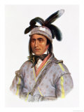 Cunne Shote, Chief of the Cherokees, 1780 Giclee Print by Pierre Duflos
