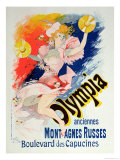 "Poster Advertising ""Olympia,"" Boulevard Des Capucines, 1892 Giclee Print by Jules Chéret"