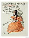 "Reproduction of a Poster Advertising the ""Salon National De La Mode,"" Rapp Gallery, Paris, 1896 Giclee Print by  Roedel"