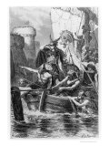 "Norse Boats Besieging Paris, from ""L'Histoire De France Racontee a Mes Petits-Enfants"" Giclee Print by Alphonse Marie de Neuville"
