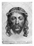 The Head of Christ, 1735 Premium Giclee Print by Claude Mellan