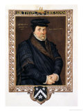 "Portrait of Sir Thomas Gresham (circa 1519-79) from ""Memoirs of the Court of Queen Elizabeth"" Reproduction procédé giclée par Sarah Countess Of Essex"