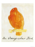 "The Orange Colour Bird, from ""Sixteen Drawings of Comic Birds"" Premium Giclee Print by Edward Lear"