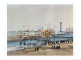 "The ""Te Deum"" at Port Said, for the Inauguration of the Suez Canal by the Empress Eugenie in 1869 Giclee Print by Édouard Riou"