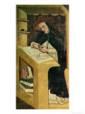 Dominican Monk at His Desk, from the Cycle of &quot;Forty Illustrious Members of the Dominican Order&quot; Giclee Print by Tommaso Da Modena 
