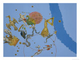 "A Group of Constellations from ""Uranometria"" Giclee Print by Johann Bayer"