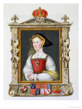 "Portrait of Jane Seymour 3rd Queen of Henry VIII from ""Memoirs of the Court of Queen Elizabeth"" Giclee Print by Sarah Countess Of Essex"