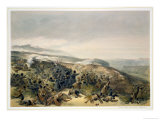"""Second Charge of the Guards at Inkerman, 5th November 1854, Plate of """"The Seat of War in the East"""" Giclee Print by William Simpson"""
