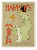"Reproduction of a Poster Advertising ""Harper's Magazine, March Edition,"" American, 1894 Premium Giclee Print by Edward Penfield"