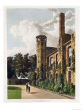 Part of St. Peter's College (Peterhouse) from the Private Garden, Cambridge Giclee Print by William Westall