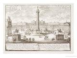 """Trajan's Square Rome, from """"Entwurf Einer Historischen Architektur"""" Giclee Print by Johann Bernhard Fischer Von Erlach"""