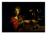 Allegory of Vanity Giclee Print by Trophime Bigot