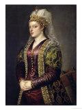 Portrait of Caterina Cornaro Wife of King James II of Cyprus Giclée-Druck von  Titian (Tiziano Vecelli)