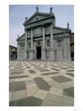 Facade of the Church, Built 1564-80, Facade Done in 1607-11 Giclee Print by Andrea Palladio