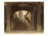 "A Staircase, Windsor Castle, from ""Royal Residences"" Giclee Print by Charles Wild"