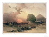 The Sphinx at Giza Lámina giclée por David Roberts