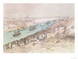The Inauguration Procession of the Suez Canal at El-Guisr in 1865 Giclee Print by Édouard Riou