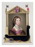 """Portrait of Catherine Howard 5th Queen of Henry VIII from """"Memoirs of the Court of Queen Elizabeth"""" Premium Giclee Print by Sarah Countess Of Essex"""