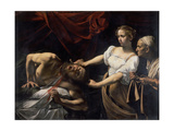 Judith and Holofernes, 1599 Gicle-tryk af Caravaggio