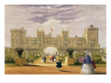 Eastern View of the Castle and Garden, Windsor Castle, 1838 Giclee Print by James Baker Pyne