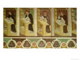Four Dominican Monks at Their Desks Giclee Print by Tommaso Da Modena 