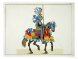 A Knight on His Way to a Tournament, Plate of a History of the Development and Customs of Chivalry Giclee Print by Friedrich Martin Von Reibisch