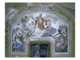 The Apotheosis of St. Ignatius of Loyola from the Refectory, 1753-54 Reproduction proc&#233;d&#233; gicl&#233;e par Diacinto Fabbroni