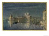Santa Maria Della Salute, Venice, Moonlight, 1863 Giclee Print by Edward John Poynter