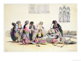 Interior of a Harem, in Cairo Giclee Print by A. Margaretta Burr