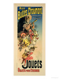 "Reproduction of a Poster Advertising ""New Year Gifts at the Buttes Chaumont"" Giclee Print by Jules Chéret"