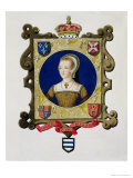 Portrait of Katherine Parr 6th Queen of Henry VIII as a Young Woman Giclee Print by Sarah Countess Of Essex