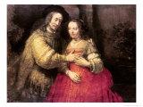 The Jewish Bride, circa 1666 Giclee Print by  Rembrandt van Rijn
