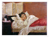 Arthur Rimbaud in His Bed in Brussels Gicl&#233;e-Druck von Jef Rossman