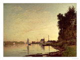 Argenteuil, Late Afternoon Reproduction procédé giclée par Claude Monet