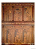 Post Restoration Cupboards in the North Sacristy Depicting the Annunciation and a Bishop Enthroned Giclee Print by Giuliano Da Maiano