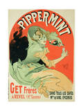 "Reproduction of a Poster Advertising ""Pippermint,"" 1899 Premium Giclee Print by Jules Chéret"