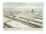 Panoramic View of the Royal Palace and Hanging Gardens of Babylon Giclee Print by Johann Bernhard Fischer Von Erlach